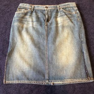 New Vintage Gap 1969 Jean Skirt with Slits Size 16